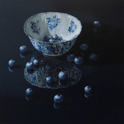 Sasja Wagenaar, 'Chinese bowl with blueberries', 2019
