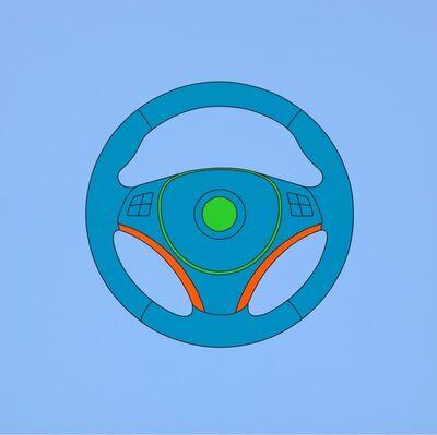 Michael Craig-Martin, 'Untitled (steering wheel)', 2014