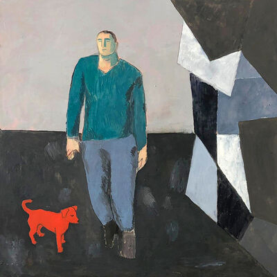 Sandro Chia, 'Walking the Red Dog', 2019