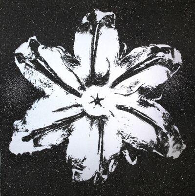 Rubem Robierb, 'Power Flower (Silver on Black)', 2016