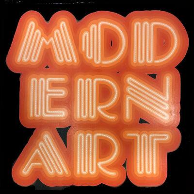 Ben Eine, 'Modern Art Neon Font', 2017