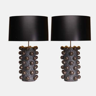 Peter Lane, 'Cabochon table lamps, pair', c. 2010