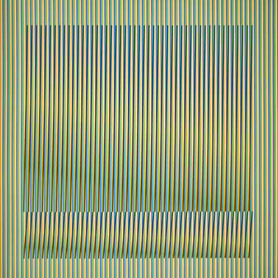 Carlos Cruz-Diez, 'Induction Chromatique a double frequence Orinoco 2', 2018