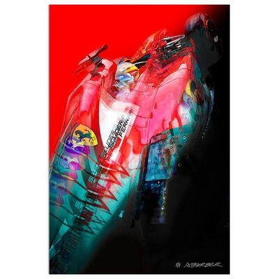 Andrew Barber, 'Fernando Alonso - Ferrari Formula 1 | Automotive | Car', 2019