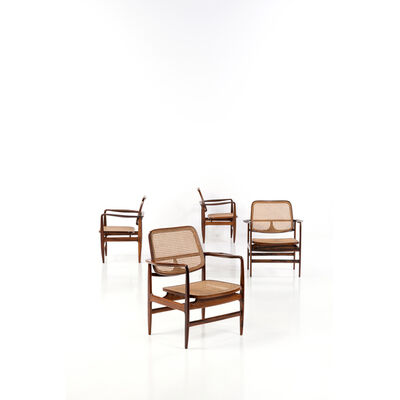 "Sergio Rodrigues, '""Oscar"" Model - Set of Four Chairs', 1956"