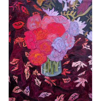 Anna Valdez, 'Summer Roses In An Autumn Palette'