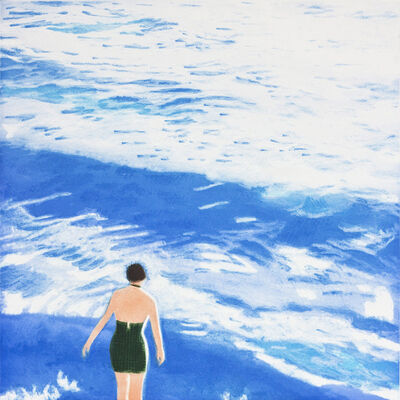 Isca Greenfield-Sanders, 'WADING I (BLUE)', 2012
