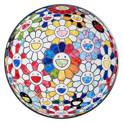 Takashi Murakami, 'Flowerball Multicolors 1 (Scenery with a Rainbow in the Midst)', 2014