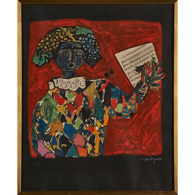 Roger Bezombes, 'Untitled (woman singing) (framed)'