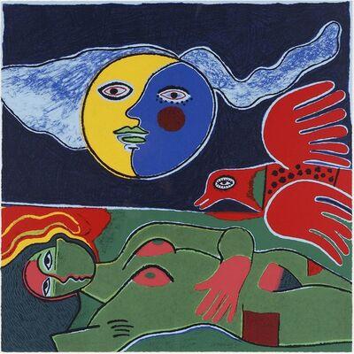 Corneille, 'Femme à  la lune ', 1990