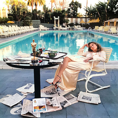 Terry O'Neill, 'FAYE DUNAWAY - LIGHT BOX', 1977