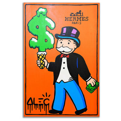 Alec Monopoly, 'Hermes Monopz with Green Ice Cream', 2019