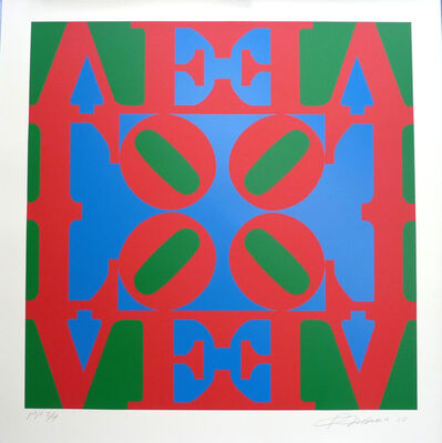 "Robert Indiana, 'Love Wall (Red Blue and Green ""O"" in center)', 2008"