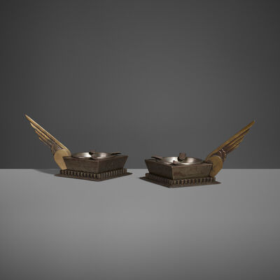 Edgar Brandt, 'Ashtrays, Pair', c. 1930