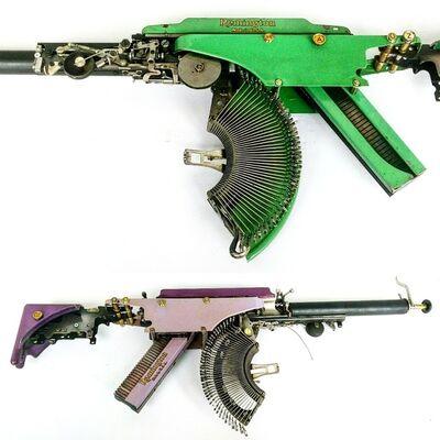Eric Nado, 'Rem Green AZ TAB - Typewriter Machine Gun series', 2019