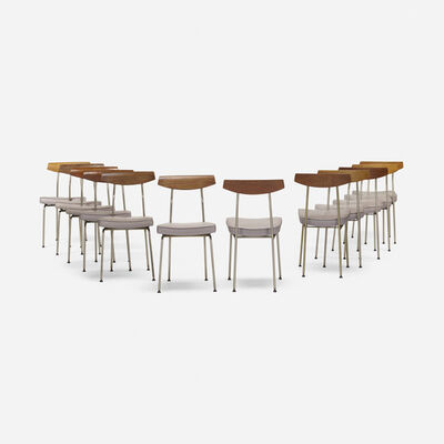 John & Sylvia Reid, 'dining chairs, set of twelve', 1959