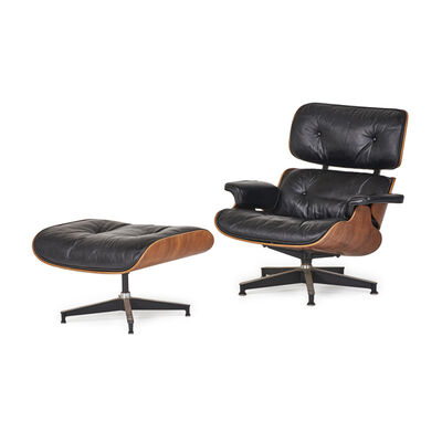 Charles and Ray Eames, 'Lounge Chair And Ottoman (No. 670 And 671), Zeeland, MI', 1960s
