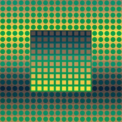 Victor Vasarely, 'ZETT-I. Yellow/Green.', 1975