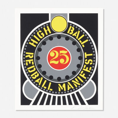 Robert Indiana, 'High Ball Redball Manifest (from the American Dream portfolio)', 1997
