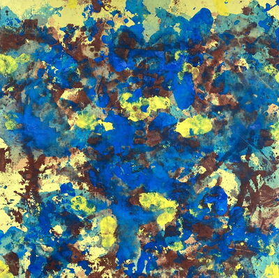 Carl A Alexander, 'Blue, Yellow and Brown', ca. 1950-70s