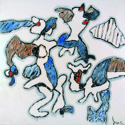Oswaldo Vigas, 'En la estación de Montparnasse (A Montparnasse)', 2001