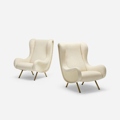 Marco Zanuso, 'Senior Lounge Chairs, Pair', 1951