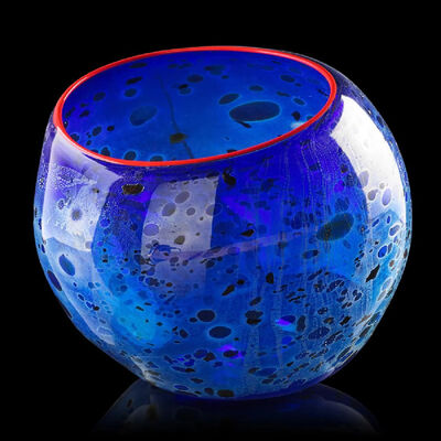 Dale Chihuly, 'Cobalt Blue Basket with Candmium Red Lip', 1994