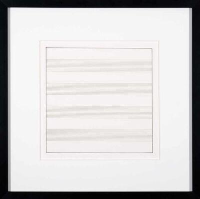 Agnes Martin, 'Untitled III', 1991