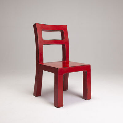 Naihan Li, 'Lacquer Chair #3 in Scarlet'