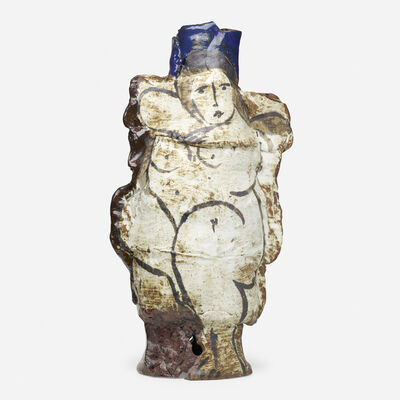 Rudy Autio, 'Early monumental vessel with nude', 1964