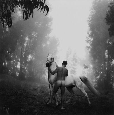 Arthur Tress, 'Groom with white Arabian', 1996