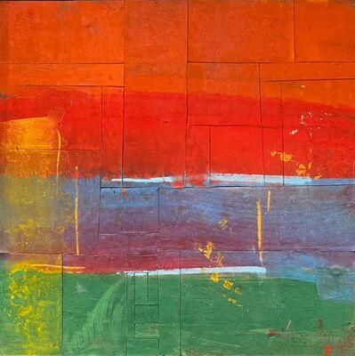 Jamali, 'Untitled - Color Blocks in Orange, Red, Blue, Purple, Green and Yellow', 2012