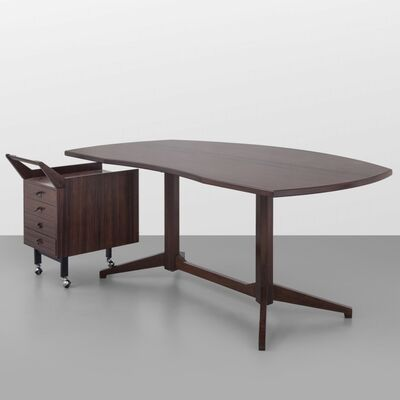 Franco Albini, 'A desk from the 'TL 22' series and a chest of drawers on weels', late 1950's