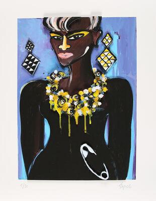 Elvira Bach, 'Ohne Titel (African Lady)', 2018