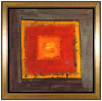 Jamali, 'JAMALI Large Original Pigmentation Painting On Cork Modern Abstract Signed Art', 20th Century