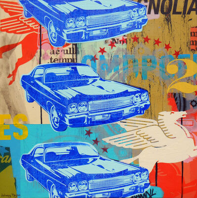 Johnny Taylor, 'Blue Cars', 2016
