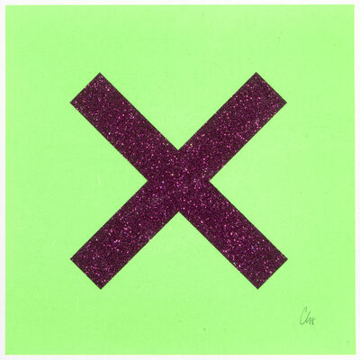 Chris Levine, 'Marks The Spot (Purple On Green)', 2018