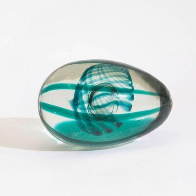 Fulvio Bianconi, 'A glass egg with internal double green spiral', 1970 ca