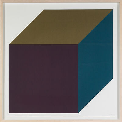 Sol LeWitt, 'Forms Derived from a Cube (Colors Superimposed) Plate 1', 1991