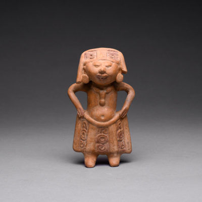 Unknown Pre-Columbian, 'Veracruz Terracotta Sculpture of a Man', 600-900