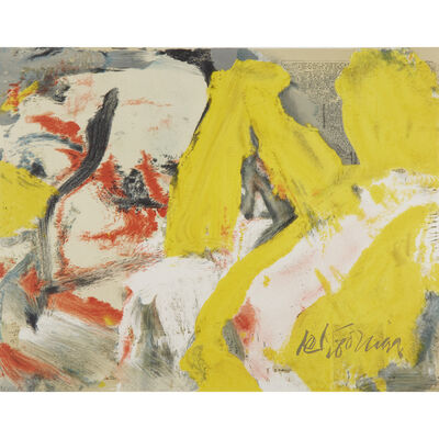 Willem de Kooning, 'The Man And The Big Blonde', 1982