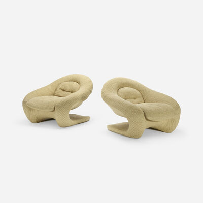 R. Huber & Co., 'lounge chairs, pair', c. 1968
