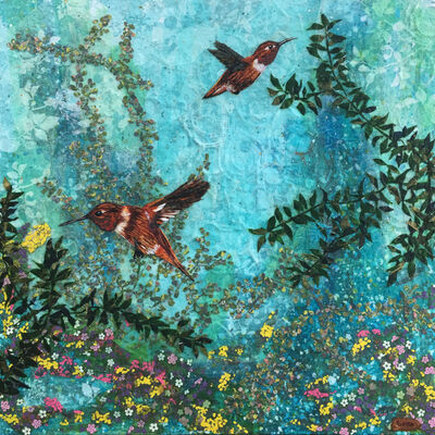 Laura Adams, 'Rufous Hummingbirds', 2018