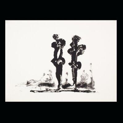 Sorel Etrog, 'Two Calligraphic Figures', 1969/1996