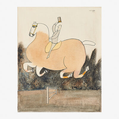 Saul Steinberg, 'Untitled (Horse and Rider)', 1950