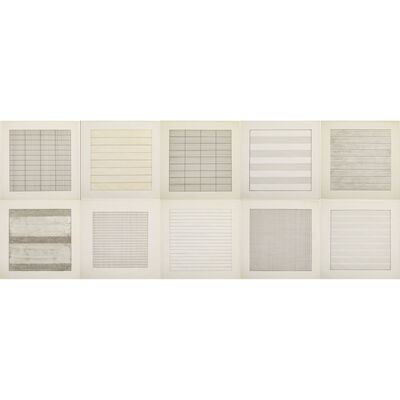 Agnes Martin, 'Paintings and Drawings', 1974, 1990 , 1991