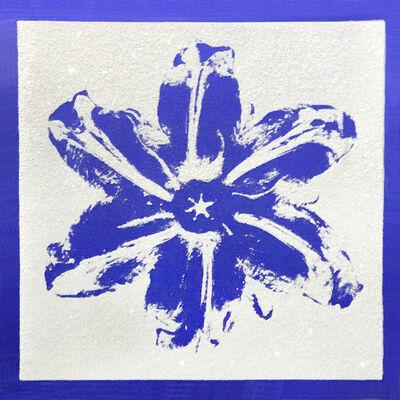Rubem Robierb, 'Power Flower - Blue on White ', 2018