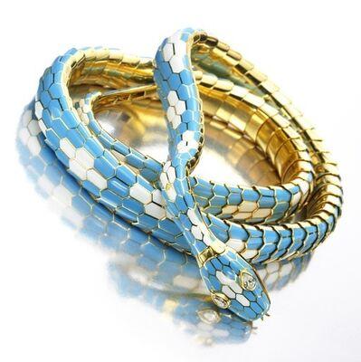 Bulgari, 'An Enamel, Gold and Diamond Serpenti Necklace/Belt, by Bulgari', 1965