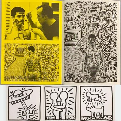 Keith Haring, 'Keith Haring Paul Maenz exhibition announcement & catalog ', 1984