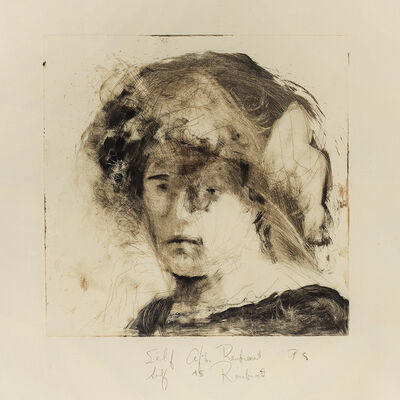 Pat Steir, 'Self after Rembrant/Self as Rembrant (sic)', 1985